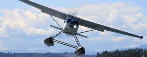 A Cessna 180 J on Aerocet 3500l Floats - Ocean Air Floatplanes